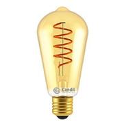Lámpara Foco Filamento Led Dorada Vintage E27 5w Ambarcandil