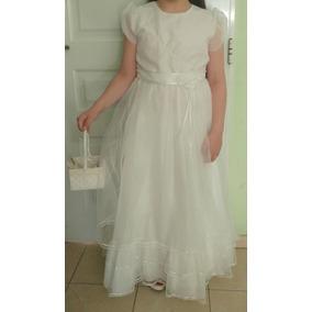 Vestido De Comunion Talle 14 Usado!!