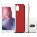 Celular Motorola Moto G4 Plus 32gb Câmera 16mp Branco + Nfe