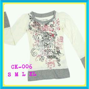 Suéter Algodón Camisa Ropa Calvin Klein Para Niñas