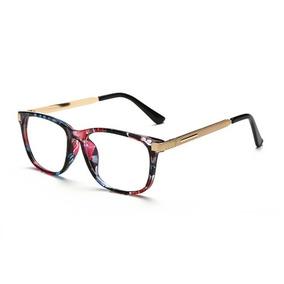 e418353c12879 Armação Óculos Grau Feminino Acetato Metal Retrô Vintage A23