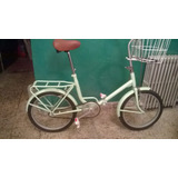 Bicicleta Plegable Antigua Reciclada Tipo Aurorita