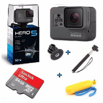Go Pro Hero5 Black Camera Gopro 5 Tela Lcd +64gb+ 2 Bastoes