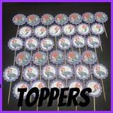 Toppers Cupcakes Candy Bar Decoración Motivos En Cartulina