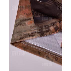 V-neck Letters 3d E Caminhão De Impressão Color Block Long S