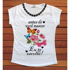 Camiseta Feminina Blusa T-shirt Gospel Evangelica Religiosa