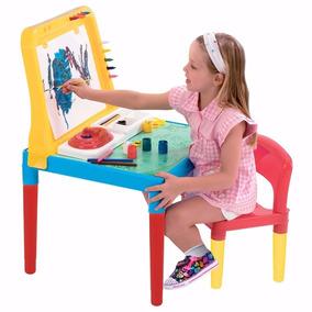 Mesa Infantil Pequeno Artista Com Cadeira E Quadro Bell Toy