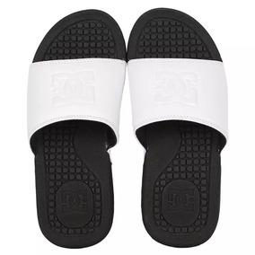 Chinelo Dc Shoes, Bolsa Woman, White. Black, Preto , Branco
