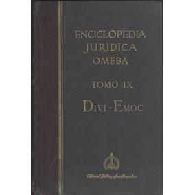 Enciclopedia Juridica Omeba Tomo Ix