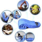 Bolsa De Dormir Sleeping Bag Termico Campamento Azul D3033