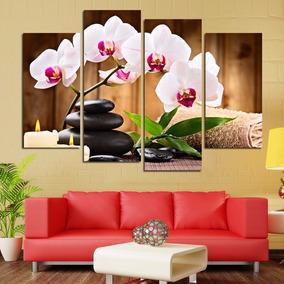 Quadro 70x100cm Spa Flores Orquídea Decorativo Frete Grátis*