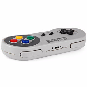 Controle Super Nintendo Snes Bluetooth Usb Android Ios Mac