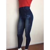 Promoção Calça Legging Estampa Jeans Fitness Academia Leg