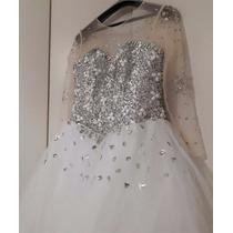 Vestido Longo De Casamento Noiva Estilo Luxo Balão Grande