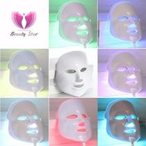 Máscara De Led Rejuvenescimento Tratamento Facial 7cores