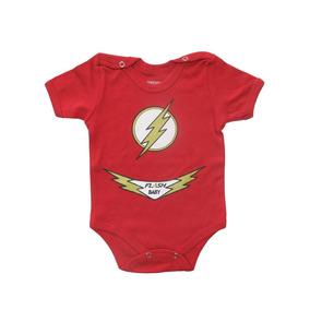 Body Divertido Para Bebê Flash Baby Manga Curta