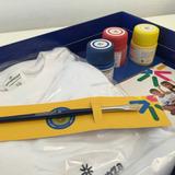 Set Arte Didáctico Niños Remera Algodón + 3 Pinturas Pincel