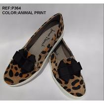 Bolichero Zapato Dama Animal Print Corbata Moda Envío Gratis