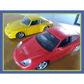 Autos Porsche X 2. Con Detalles. Burago Y Maisto. 1/24.-
