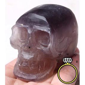 20% Calavera Cráneo Cristal Cuarzo Fluorita Sanación Reiki