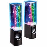 Bafles Parlantes De Agua Ritmica Con Luz Led Celular O Pc