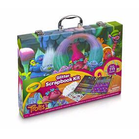Crayola Trolls Glitter Scrapbook Kit Envio Grati Art Case Ng