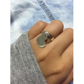 Anel Plaquinha Coração Tiffany Prata 925