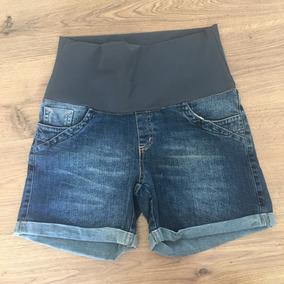 Bermuda Jeans Gestante 36 Ao 50 Short Gravida Nicole