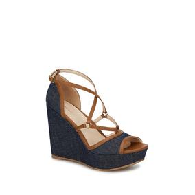 Zapatillas De Correa Nude - Zapatos Azul en Mercado Libre México a31830ca2e183