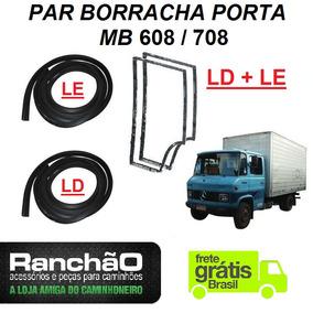 Jogo Borracha Porta Caminhão Mb 608 708 (2 Portas)
