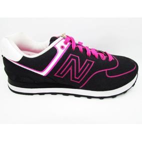 Tenis New Balance Lyfestile Wl574nen Black Pink Neon