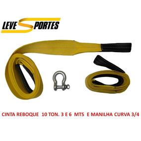 Cinta De Reboque 4x4 C / 3 E 6 Metros P/ 10 Ton. E Manilha