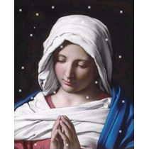 Lienzo Tela Virgen Rezando Arte Sacro Giovanni Battista