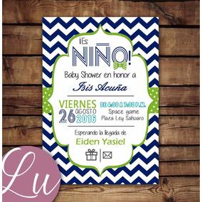 Invitacion Imprimible Personalizada Baby Shower Niño