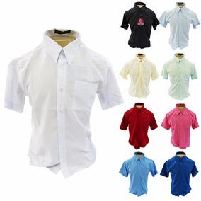 Camisa Social 100% Microfibra - Manga Curta - Não Amassa