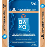 Tarjeta Psn 20 Us$ Usa | Wood.gaming || Stock Ya! || Oferta!