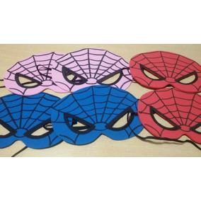 Souvenir Antifaz De Spiderman Para Nenes Y Nena( Pack X 10u)
