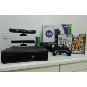 Xbox 360 Slim 4 Gb + 2 Controles + Kinect + Frete Grátis