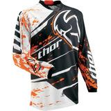 Camisa Thor Phase Splatter Laranja F Ox Trilha - Tamanho M