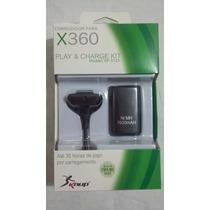 Kit 5 Pçs Bateria +carregador-xbox 360 Até 35 Hs De Jogo.