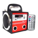 Caixa De Som Radio Fm Usb E Cartao De Memoria Controle