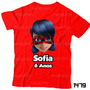 Lembrança De Aniversário Ladybug Camiseta Infantil