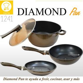 Zao Pan Sartenes Antiadherentes Capa Polvo Diamante Star