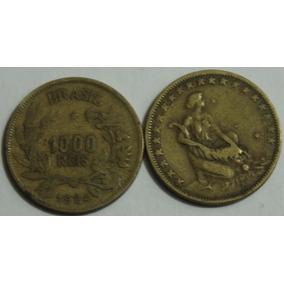 1000 Réis Ano De 1924 Moeda Antiga Ouro