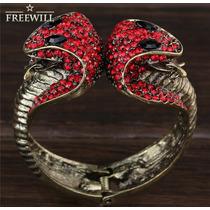 Pulseira Bracelete Metal Serpente Cobra Naja