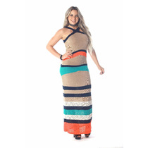 Vestido Longo Feminino De Linho Estilo Galeria Tricot!
