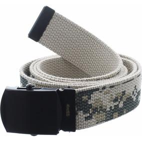 Cinturones Militares Hebilla Metálica Largo Ajustable Unisex