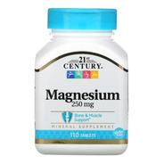 Magnésio Importado, 21s Century (250mg) - 110 Comprimidos