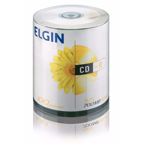 100 Midia Virgem Cd-r Elgin 52x 700mb 80min Cdr C/logo