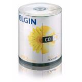 100 Midia Virgem Cd-r Elgin 52x 700mb 80min Cdr C/logo